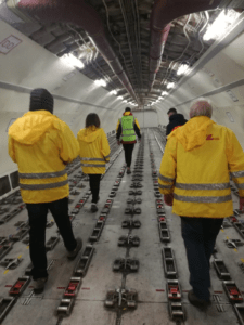 Intech team inside the plane