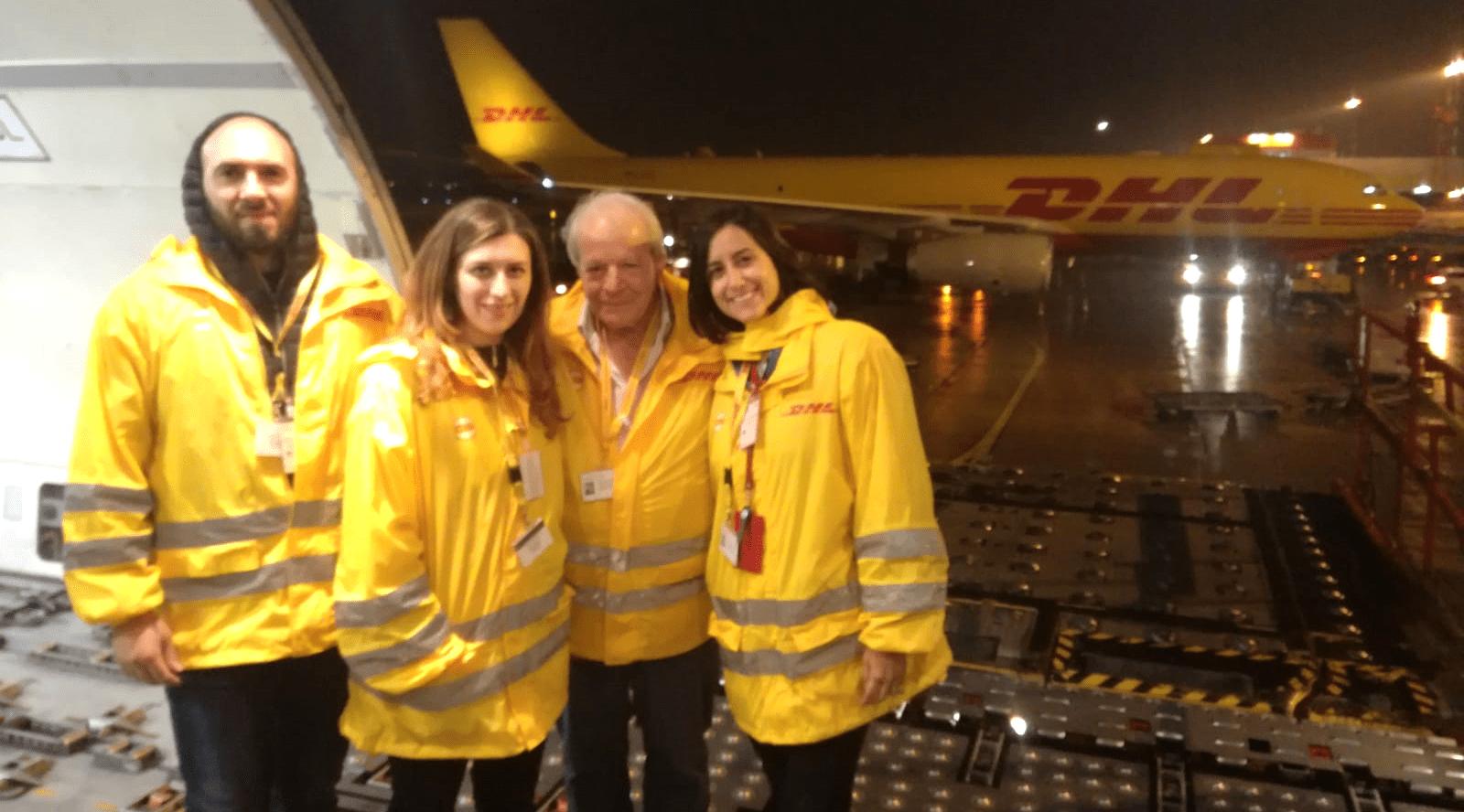 Intech Automazione visits the DHL hub in Bergamo airport